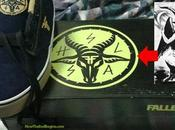 Shoes Teens with Satanic Baphomet Symbol