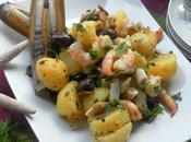 Warm Seafood Potato Salad