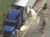 Interstate Tractor Trailer Crashes Louis, Missouri