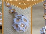 Decorative Pomander Tutorial (Cut Card Stock)