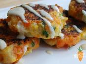 Carrot Coriander Fritters With Tahini Dressing